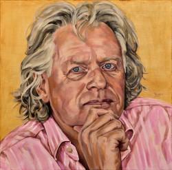 portretschilderij in opdracht, Pieter, 60x60 cm