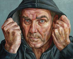 Zelfportret met hoodie