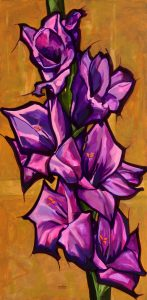 schilderij gladiool