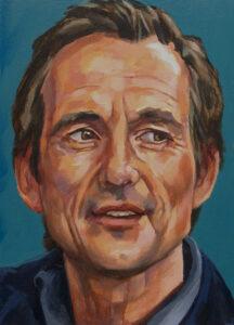 Michiel Vos, portret drieluik links