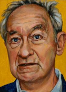 Simon Schama, portret drieluik midden