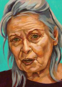 Vivienne Westwood, portret drieluik midden